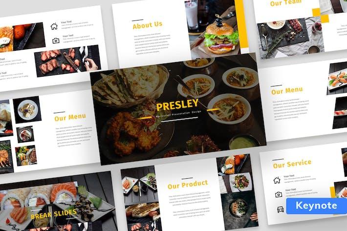 Thumbnail for Presley - Restaurant Presentation Design Keynote