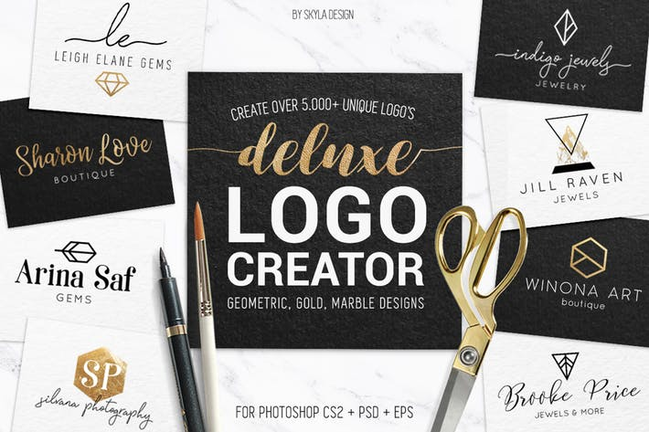 Thumbnail for Deluxe gold logo creator kit