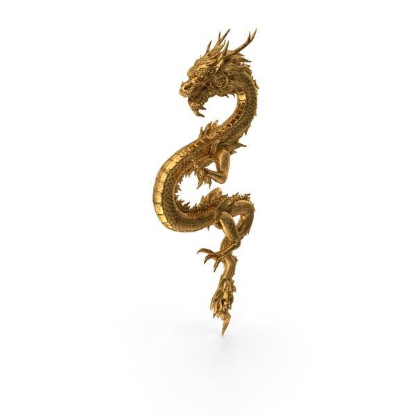 Golden Chinese Dragon Zodiac Sign