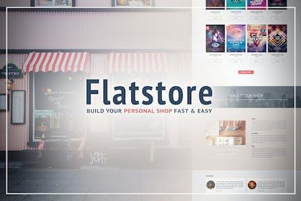 Flatstore - Шаблон электронной коммерции Муза