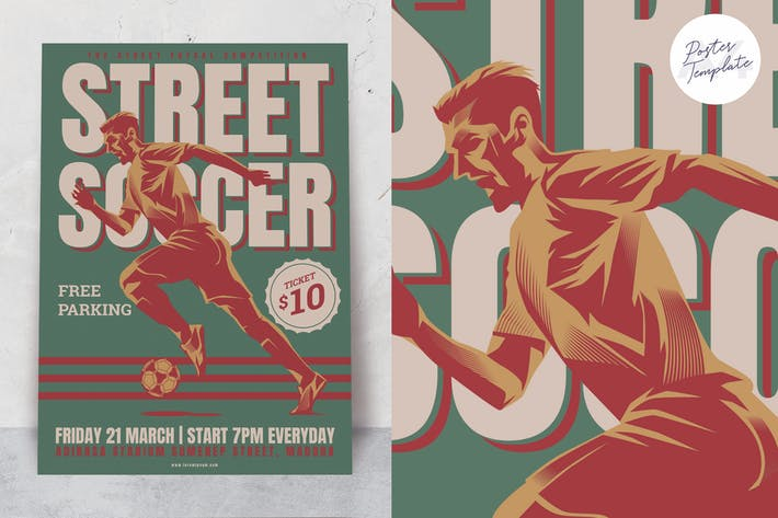 Thumbnail for Soccer Poster Template