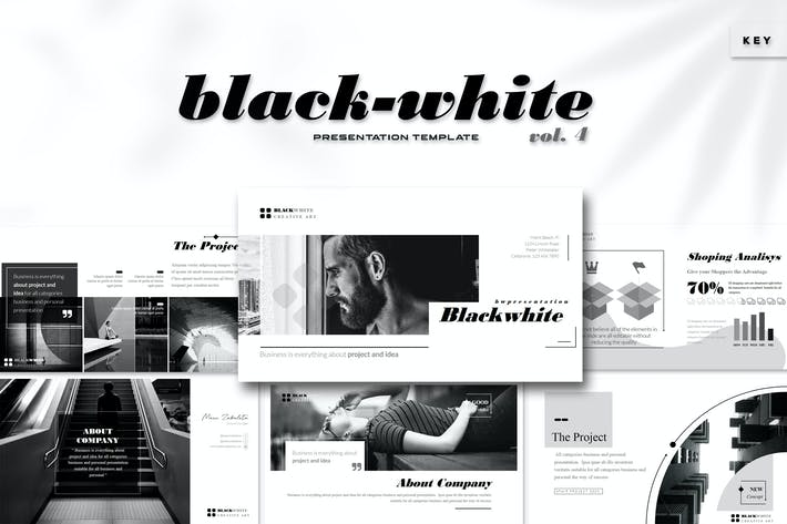 Thumbnail for Black White Vol. 4 - Keynote Template