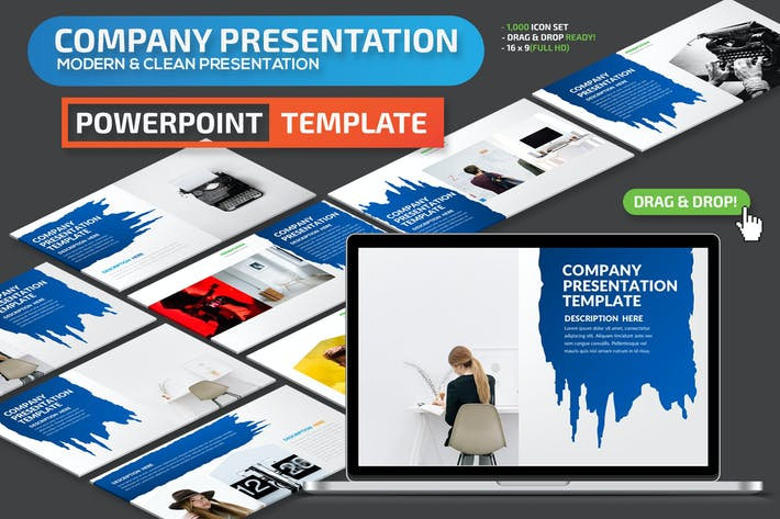 Thumbnail for Company Powerpoint Presentation Template