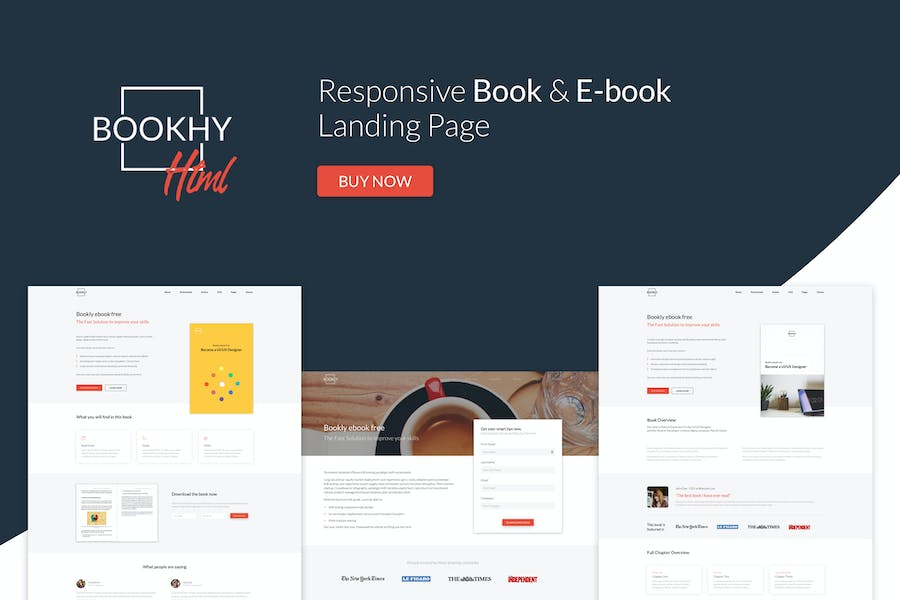 Bookhy - The Perfect Landing Page, Book & Ebook.