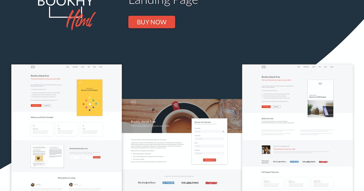 Download Bookhy - The Perfect Landing Page, Book & Ebook. by puredesignThemes