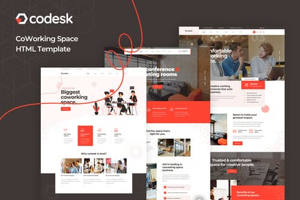 Codesk - Coworking Space HTML Template