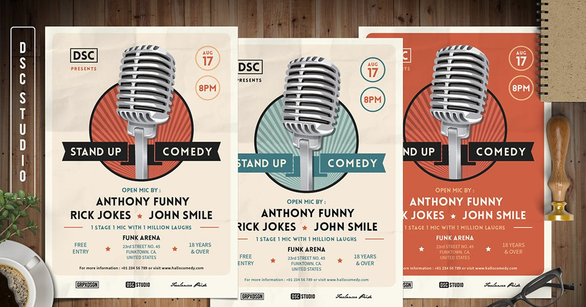 Download Stand Up Comedy Flyer by Unknow