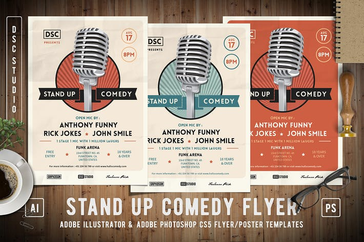 Cover Image For Stand Up Comedy Flyer