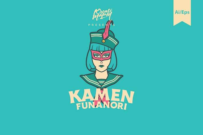 Thumbnail for Kamen Funanori Logo Template