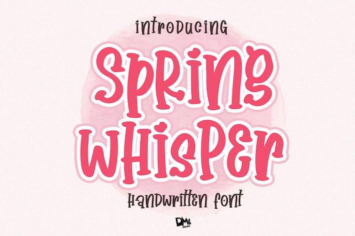 Thumbnail for Spring Whisper - Fuente Crafty escrita a mano