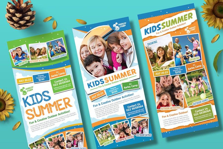 Kids Summer Camp Rack Karte