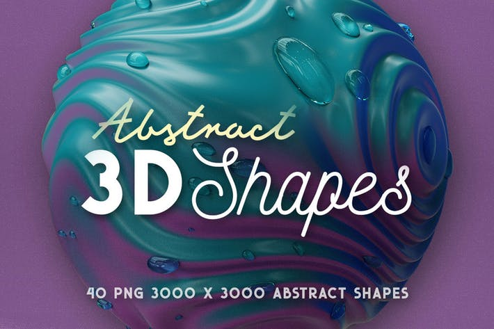 Thumbnail for 40 Abstract 3D Shapes