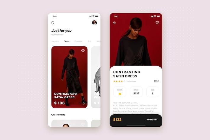 Thumbnail for Plantilla del kit de interfaz de usuario de Aplicación móviles de la tienda de comercio electrónico