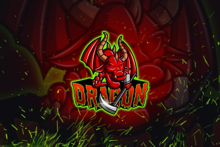Thumbnail for Red Dragon - Esport & Mascot Logo YR