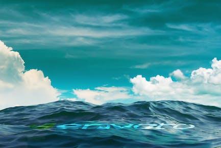 Realistic Ocean Logo