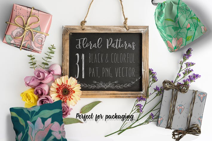 Thumbnail for 31 Floral Patterns Pack