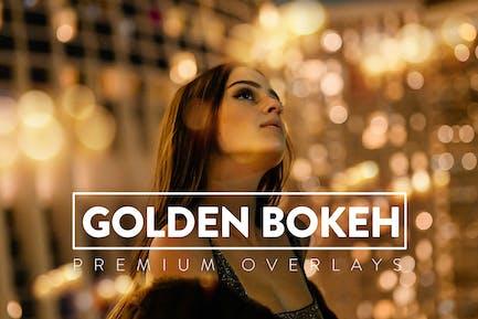30 Golden Bokeh Overlay
