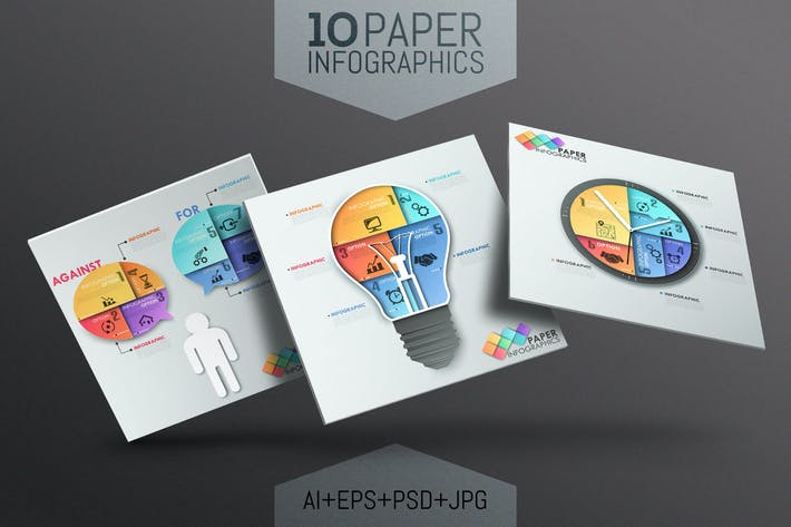 Thumbnail for 10 Infographies papier