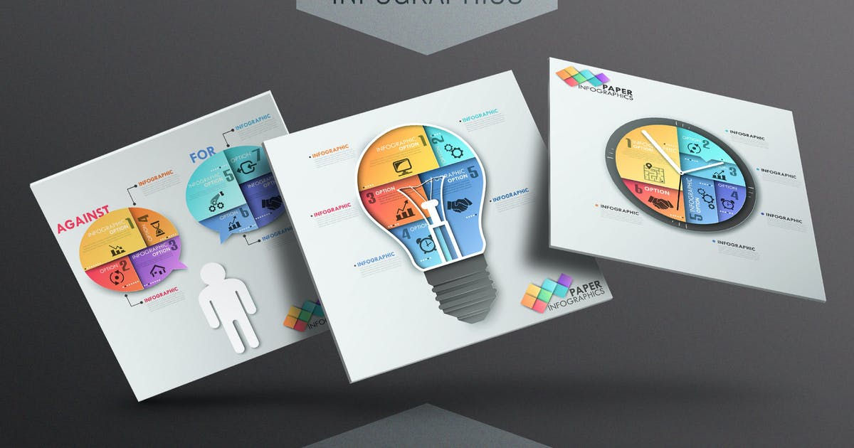 Download 10 Paper Infographics by Andrew_Kras