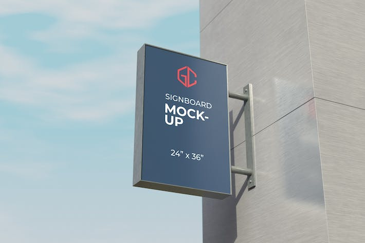 Thumbnail for 24 x 36 inches signboard mockup
