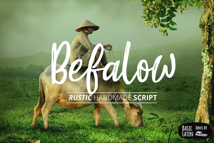 Thumbnail for Befalow Rustic Font