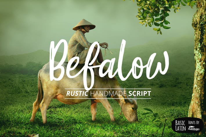 Thumbnail for Befalow Rustic Font - Fuente