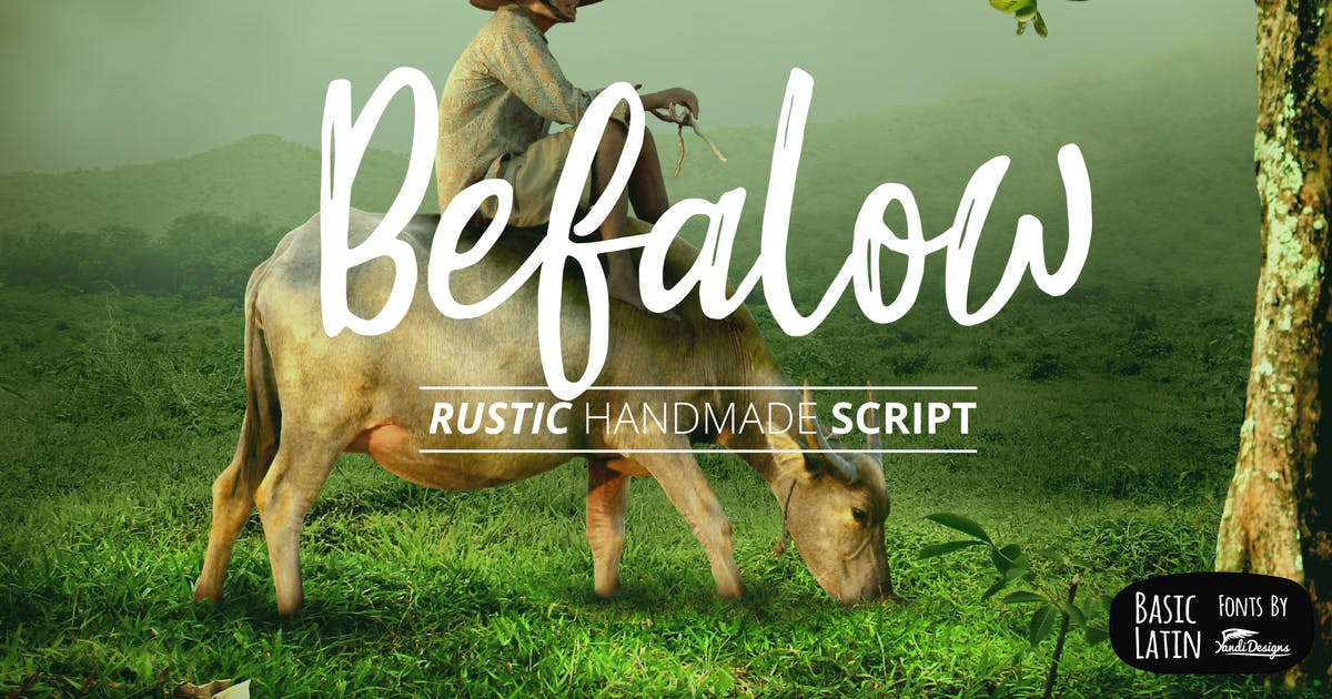 Download Befalow Rustic Font by yandidesigns