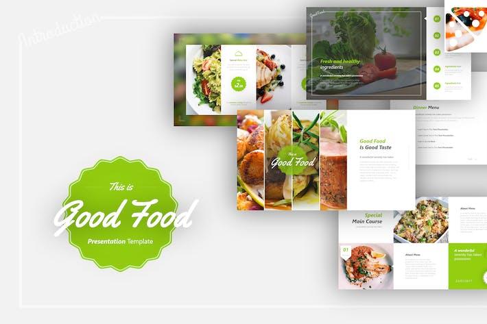 Thumbnail for Шаблон презентации хорошей еды