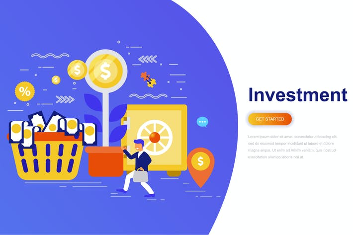 Thumbnail for Investment and Growth Economy Modern Flat Concept