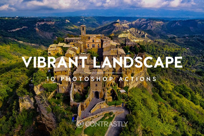 Cover Image For Vibrant Landscape Photoshop Actions