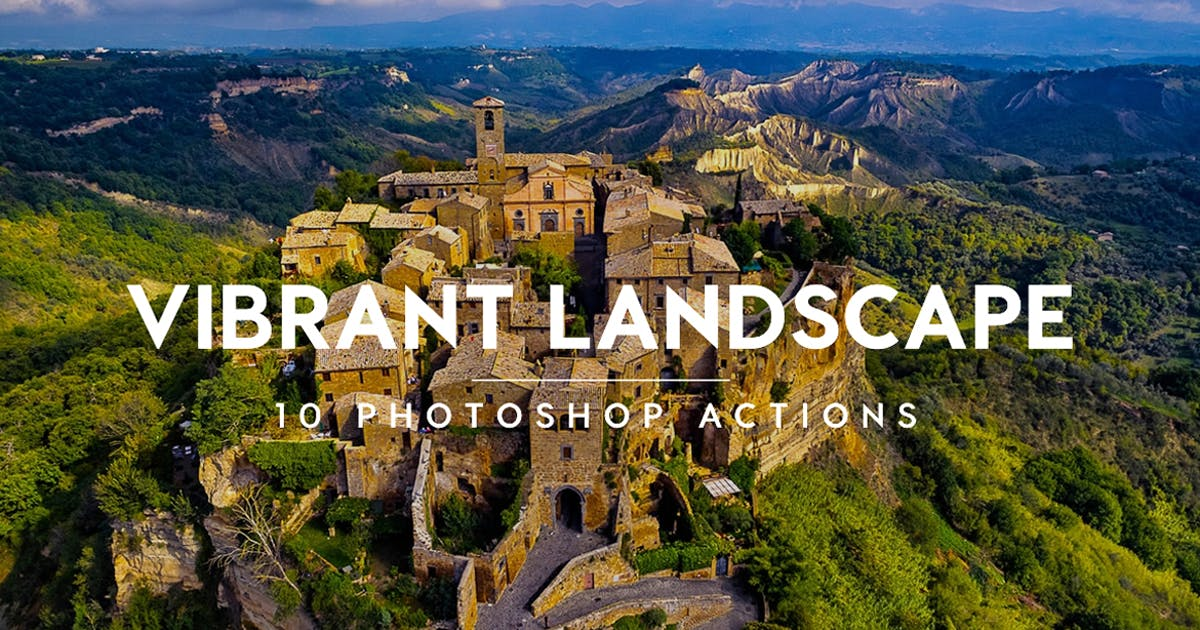 Download Vibrant Landscape Photoshop Actions by Contrastly