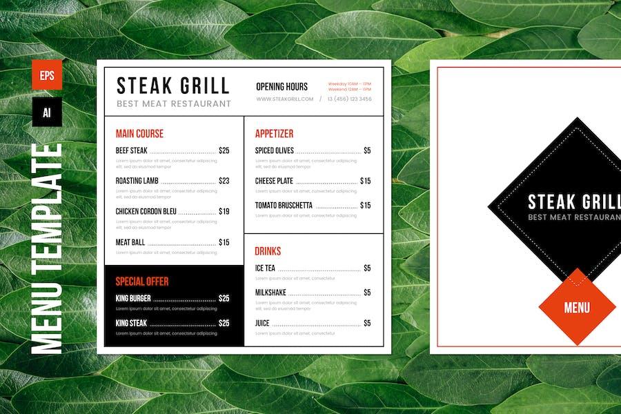 Restaurant Food Menu Template – 01