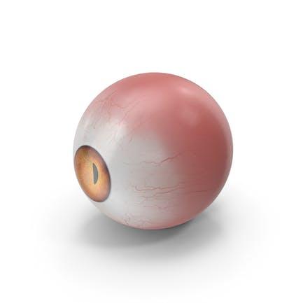 Realistische Kreatur Auge Rot
