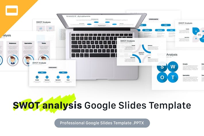 Thumbnail for SWOT Analysis Google Slides Template