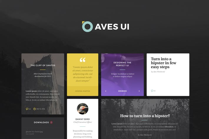 Thumbnail for Aves UI Kit