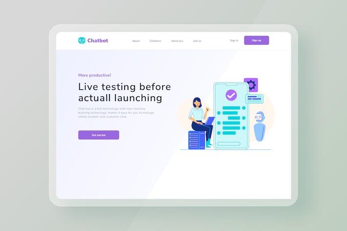 Live testing Software website Illustration