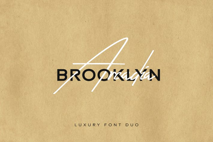 Thumbnail for Arcadia & Brooklyn Duo - Handmade Luxury Font Duo