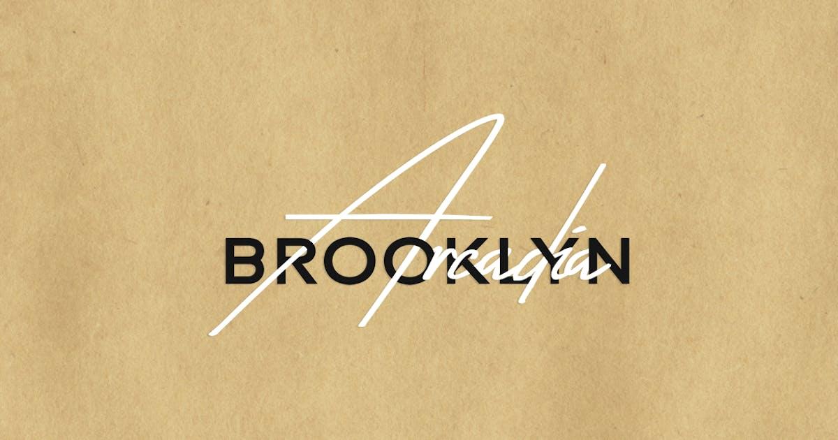 Download Arcadia & Brooklyn Duo - Handmade Luxury Font Duo by designova