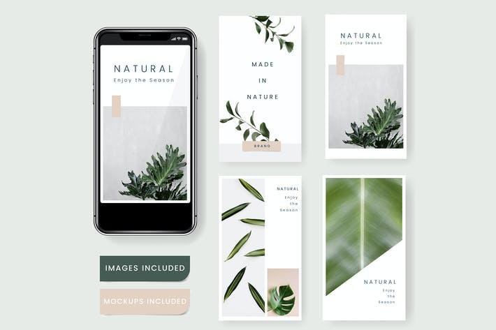 Thumbnail for Natural social media template vector
