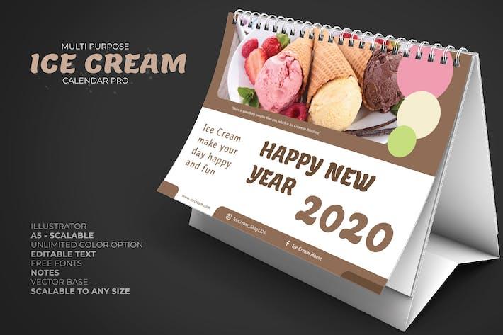 Thumbnail for 2020 Ice Cream/Food Store Calendar Desk Pro