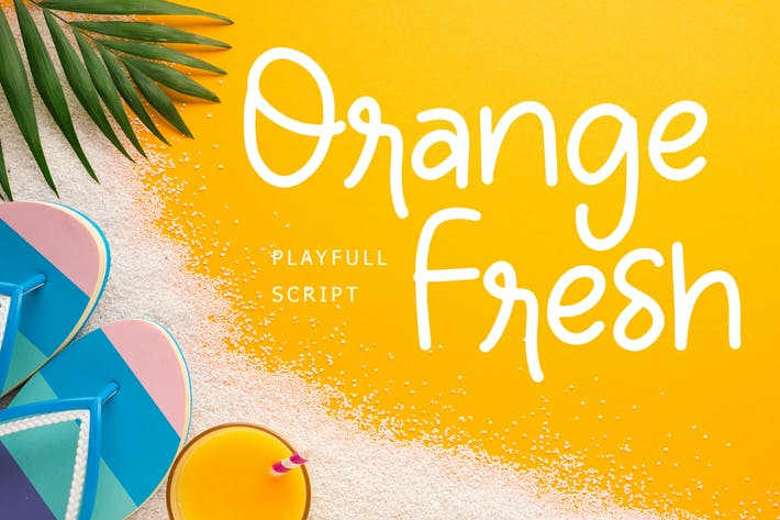 Thumbnail for Orange Fresh Handwritten Playful Font