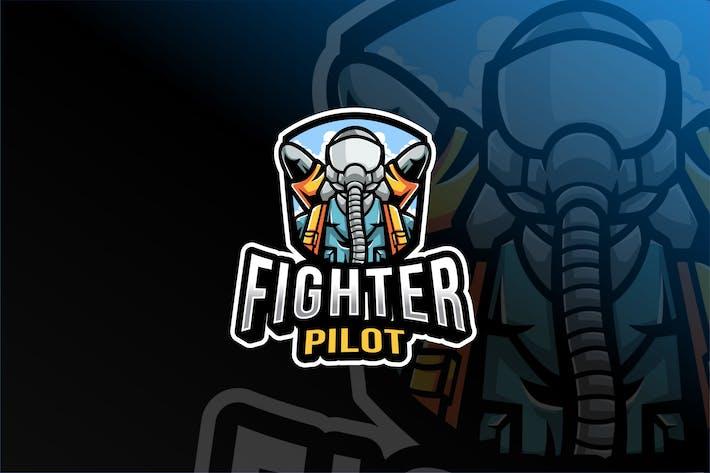 Fighter Pilot Esport Logo Template