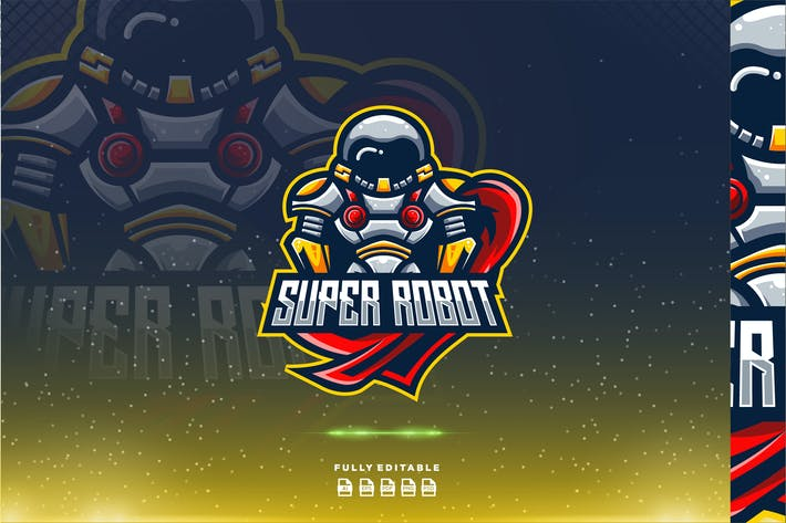 Thumbnail for Super Robot Hero Gaming Logo