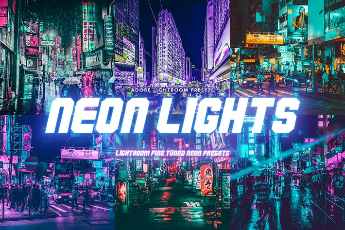 Thumbnail for Neon Lights Lightroom Presets