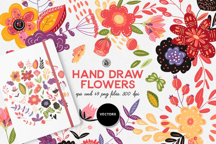 Thumbnail for Hand Draw Flowers