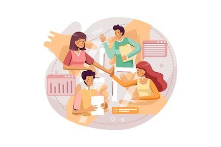 Онлайн-собрание компании для обсуждения