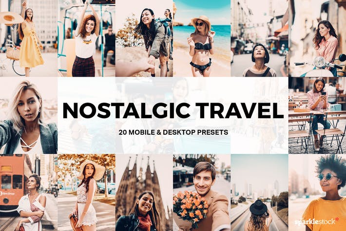 Thumbnail for 20 Nostalgic Travel Lightroom Presets and LUTs