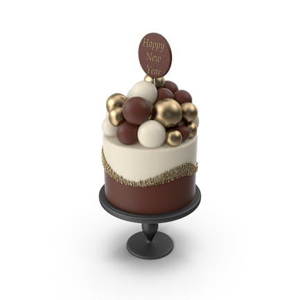 Kuchen mit Guten Rutsch ins Neue Jahr Topper