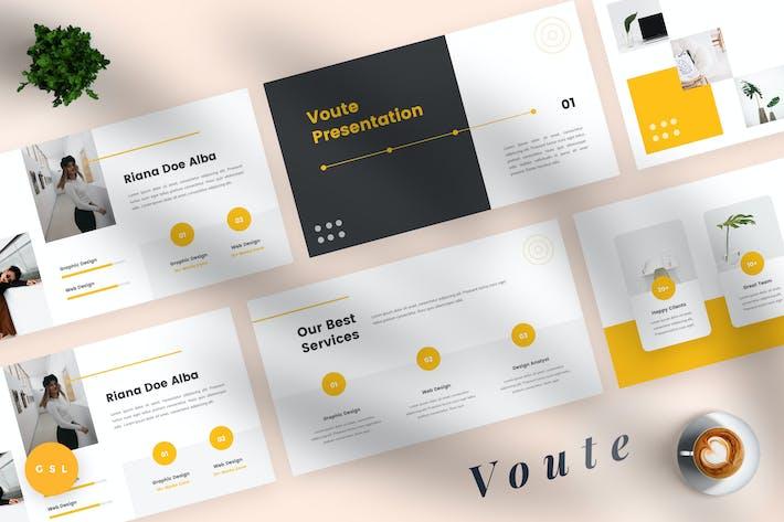 Thumbnail for Voute - Pitch Deck Google Slides Template