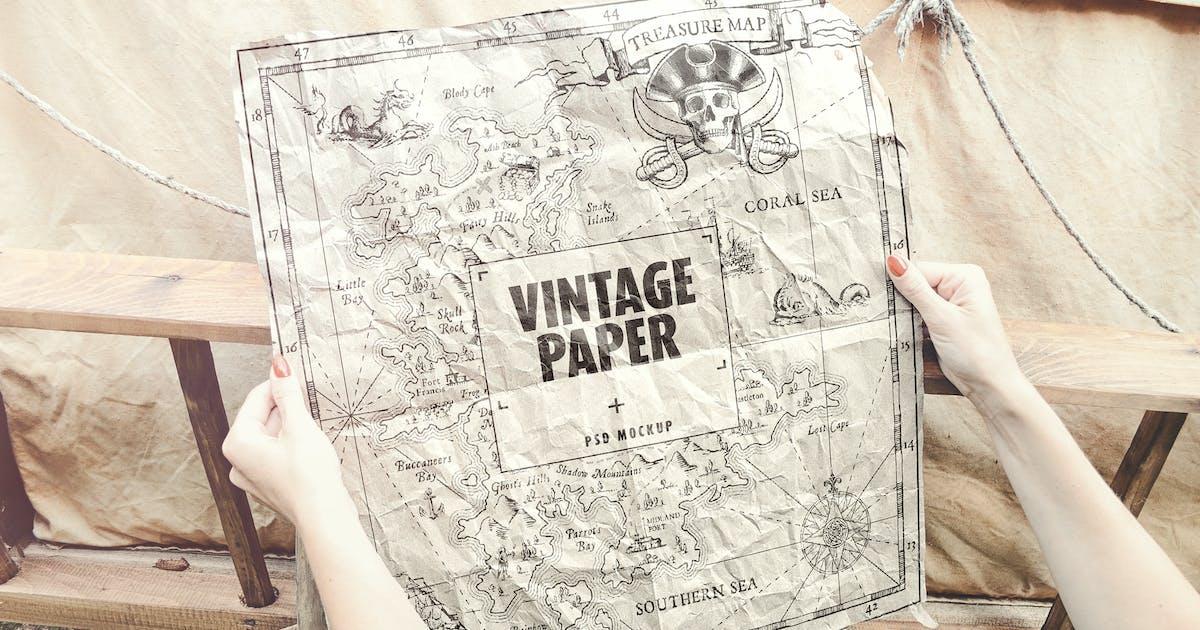 Download Vintage Paper / Poster / Map Mockup by StreetD